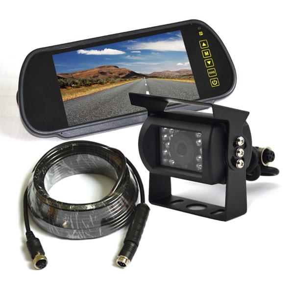 backup camera system with clip on mirror monitor vardsafe vs803k. Black Bedroom Furniture Sets. Home Design Ideas