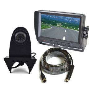 backup camera system with extended roof camera