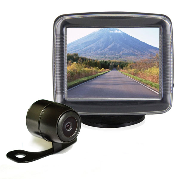 car backup camera system with 3 5 inch monitor vardsafe vs427m. Black Bedroom Furniture Sets. Home Design Ideas