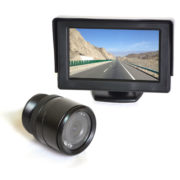 car backup camera system with flush mount camera