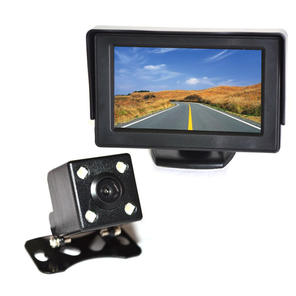 Car Backup Camera System With 4.3 Inch Monitor