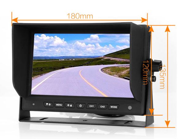 rear view monitor dimension