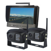 7 inch wireless backup camera system with 2 cameras