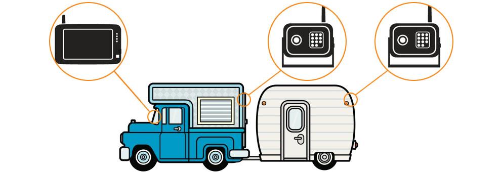 digital wireless backup camera system installation guide