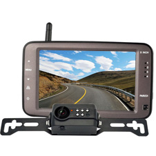 wireless license plate backup camera system