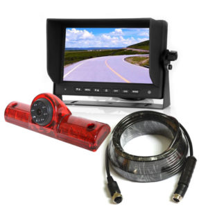 universal third brake light backup camera system