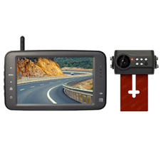 digital wireless license plate backup camera system