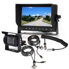 Backup Camera System with Trailer Tow Quick Connect Kit