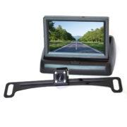car license plate backup camera system