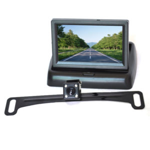 car license plate backup camera system