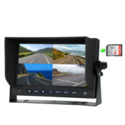 quad view rear view monitor with built-in DVR