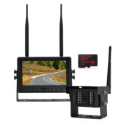 Wireless Backup Camera System with Built-in DVR